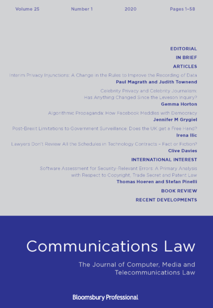 Communications Law 25.1