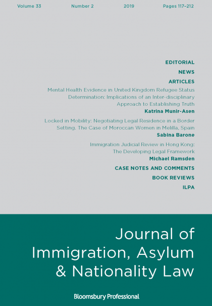 Journal of Immigration, Asylum and National Law 33.2